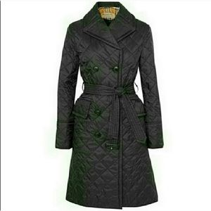NWOT Auth. Burberry Horberie Quilt Trench Coat S
